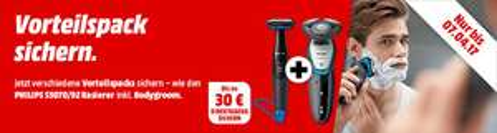 Philips Rasierer mit Direktabzug bei MediaMarkt S7520/69 (sowie auch S3110 / S5070)