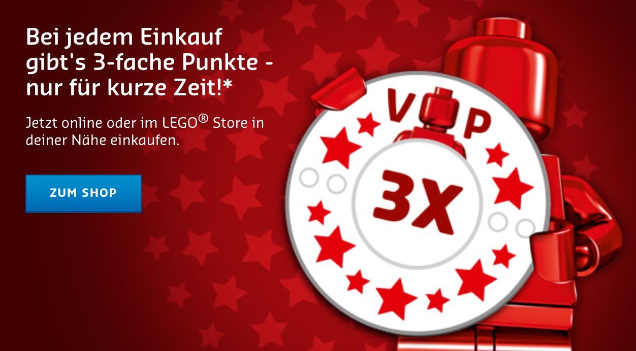 LEGO dreifache  VIP Punkte bis 23. April