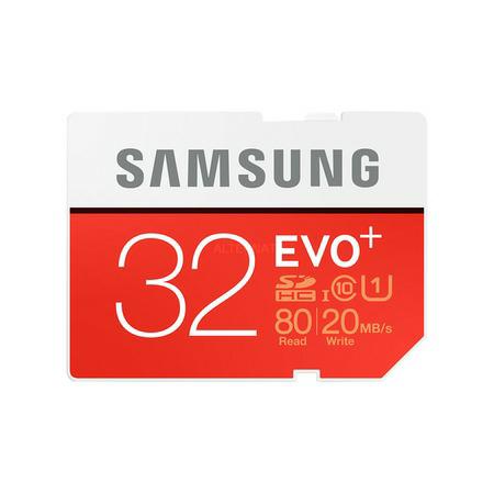 "2x Samsung SDHC-Speicherkarte Class 10 ""EVO Plus 32GB SDHC"""