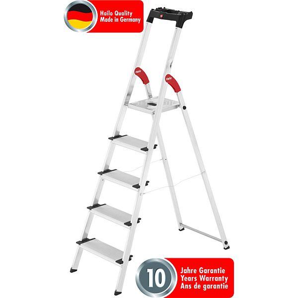 Hailo 8040-507 Profistep XXL Aluminium Sicherheitsleiter 5 Stufen