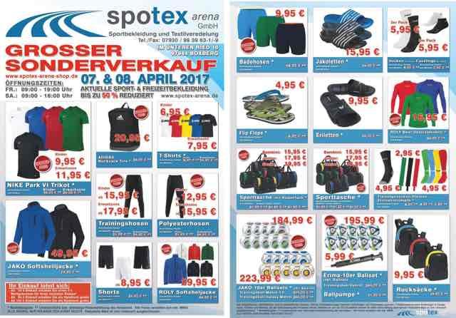 Lokal Boxberg Spotex Sonderangebot