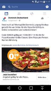 Domino's Pizza 99 Cent (lokal? )