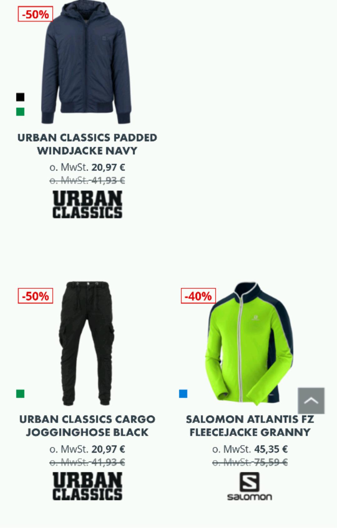 Markenkleidung stark reduziert