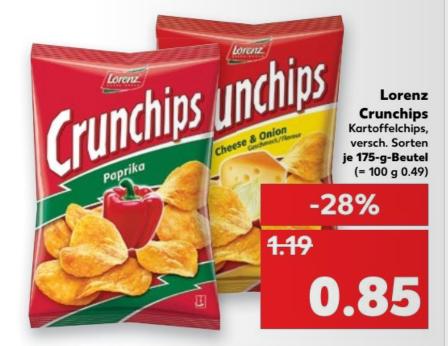 [lokal Kaufland Kiel] Crunchips für 0,85€  (13.04-19.04.2017)