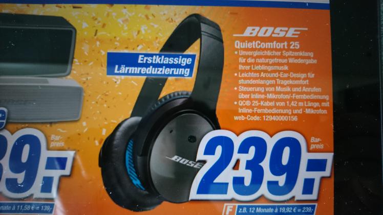lokal Expert Gröblinghof:Bose QuietComfort 25