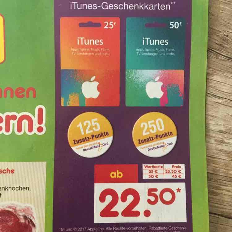 [KW15] 10% auf iTunes Karten