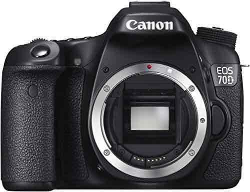 Canon EOS 70D mit EF 50mm f/1.8 II und Gegenlichtblende ES-62 W Kamera (20,2 Megapixel CMOS-Sensor, 19 AF-Kreuzsensoren) schwarz