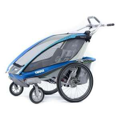 (online) Thule Chariot CX 2 blau inkl. Fahrradanhänger Set