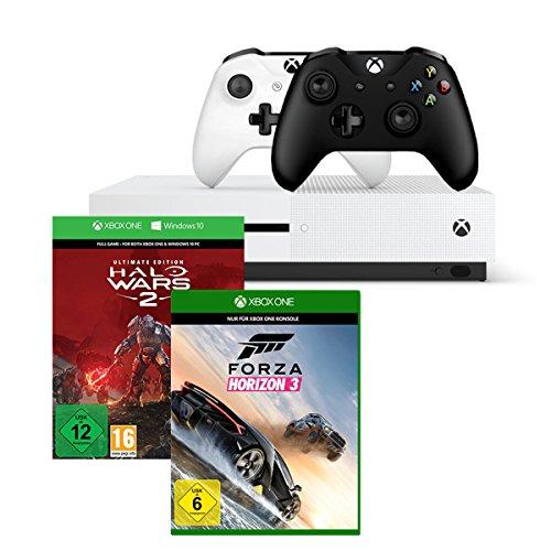 Xbox One S 1TB Konsolen-Bundle inkl. Halo Wars 2:Ultimate Edition + Forza Horizon 3 - Standard Edition + Xbox Wireless Controller (schwarz) [Amazon]