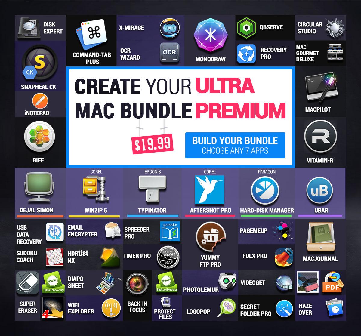 (MAC) Bundlehunt Ultra Premium Mac Bundle – 7 aus 49 Apps wählen für nur unter 19€