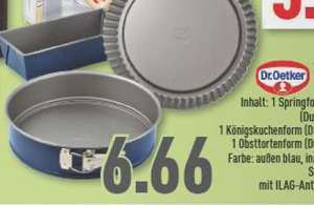 [Marktkauf] Dr. Oetker 3-tlg. Backformen-Set 6,66€