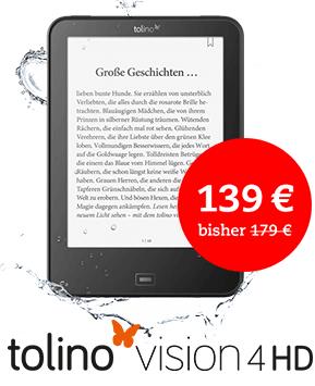 [Thalia oder buch.de] tolino vision 4HD + 4% shoop oder 10-fach Payback