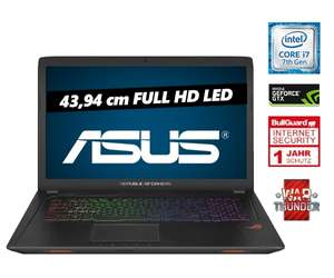 "[one.de] ASUS Gaming Notebook GL753VD-GC009, 17,3"", Full HD, NVIDIA GeForce GTX 1050, Intel® CoreTM i7-7700HQ Prozessor (2,80 GHz), 8GB RAM"