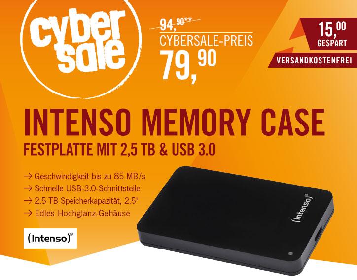 Intenso Memory Case 2,5TB (2,5'') für 79,90€ [Cyberport]