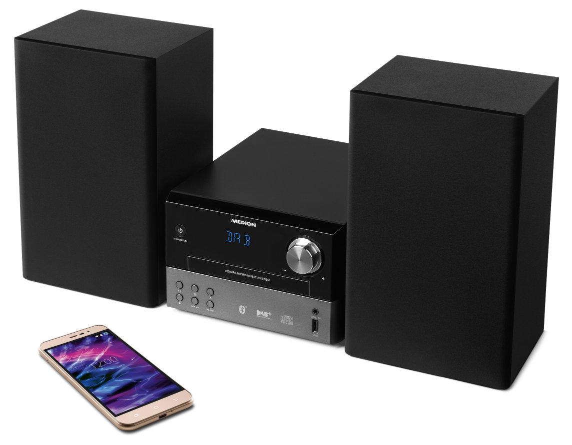 [Medion] MEDION  MD 43390 , DAB+, Bluetooth, MP3, UKW / MW, CD, USB, AUX, schwarz / 25% unter Idealo