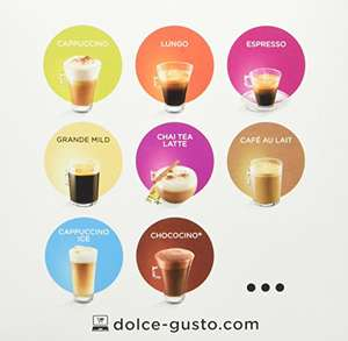 AMAZON Dolce Gusto Grande, Dallmayr Crema d'Oro, Latte Macchiato, Cafe au Lait