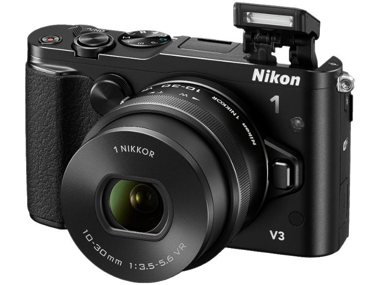 [Mediamarkt Österreich] Nikon 1 V3 Systemkamera (18 Megapixel, 7,5 cm (3 Zoll) TFT-Display, Eletronischer Bildstabilisator, Full-HD-Videofunktion, Wireless Lan, USB) Kit inklusive 10-30mm Objektiv schwarz für 429,-€ inc Versand