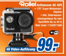 Actioncam Rollei 425 für 99 €