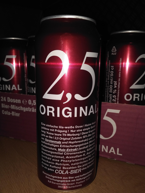 2,5 Original Bier Cola Mixgetränk im Kaufland Mittagstraße Magdeburg für 9ct
