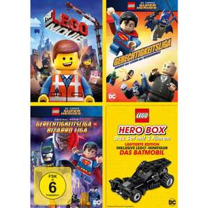 [Müller] Lego Hero Box 3 DVDs plus Lego Batmobil für  9,99€ (8,99€ mit Coupon)