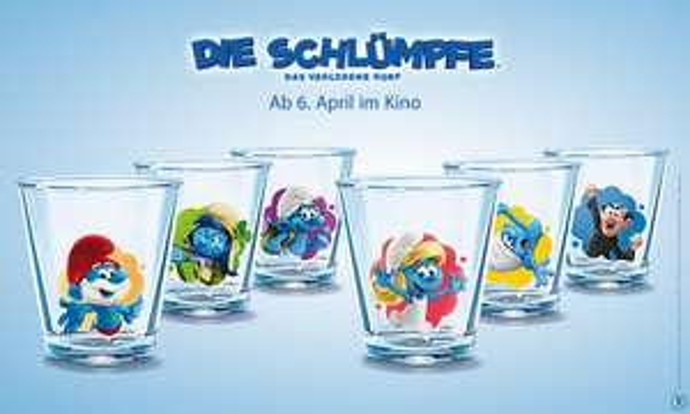 Schlümpfe-Gläser: 3er-Sets für 2,99€*