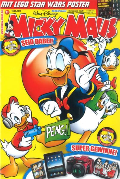 Micky Maus Miniabo (13 Ausgaben) für 31,33€ mit 20€ Amazon-Gutschein