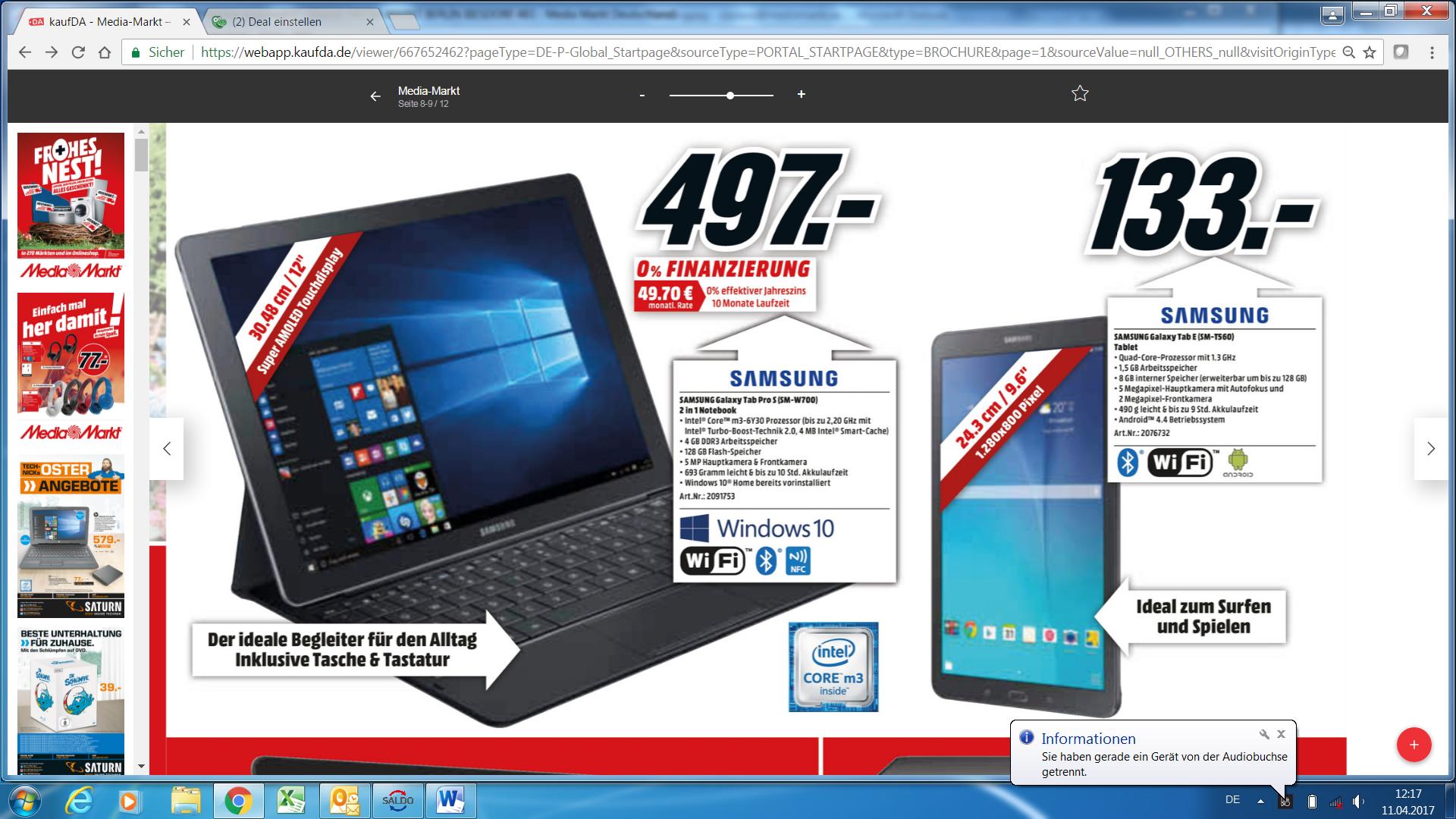 Samsung TabPro S (S-MW700) nur in den Media Märkten in Berlin & Brandenburg