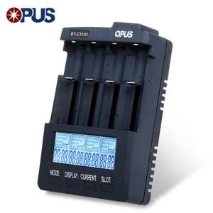 Opus BT - C3100 V2.2 Smart Battery Charger  -  EU PLUG  PURPLISH BLUE (Gearbest)