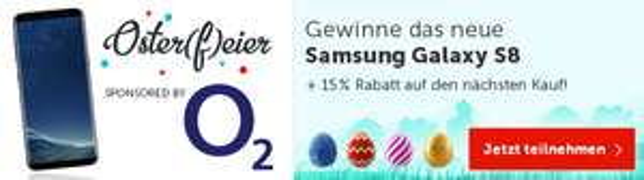 Samsung Galaxy S8 / 100 Euro Gutschein / 15% Rabatt auf DailyDeal