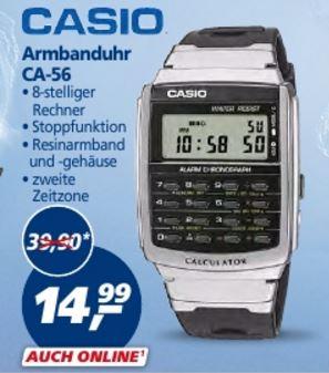 [Real Offline] Casio Herrenuhr Casio Collection Chronograph CA-56-1ER