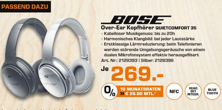 [Lokal Saturn Chemnitz ab 13.04] Bose QuietComfort 35 wireless Kopfhörer in silber oder schwarz für je 269,-€