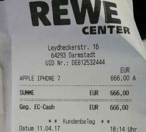 [REWE Center Darmstadt] iPhone 7 128 GB