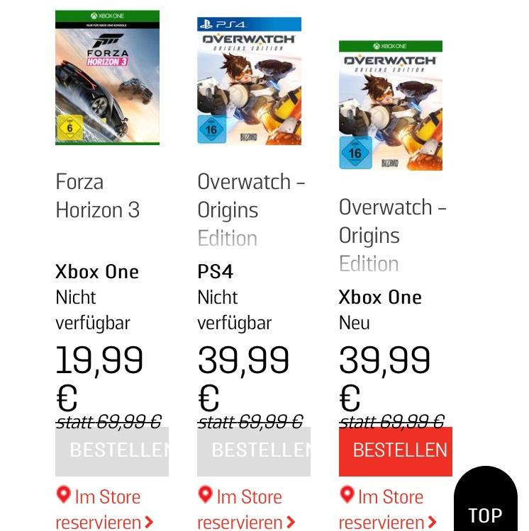 Forza Horizon 3 Lokal @ Gamestop