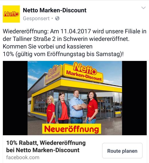 10% Rabatt bis 15.4.17, Netto Marken-Discount, Schwerin