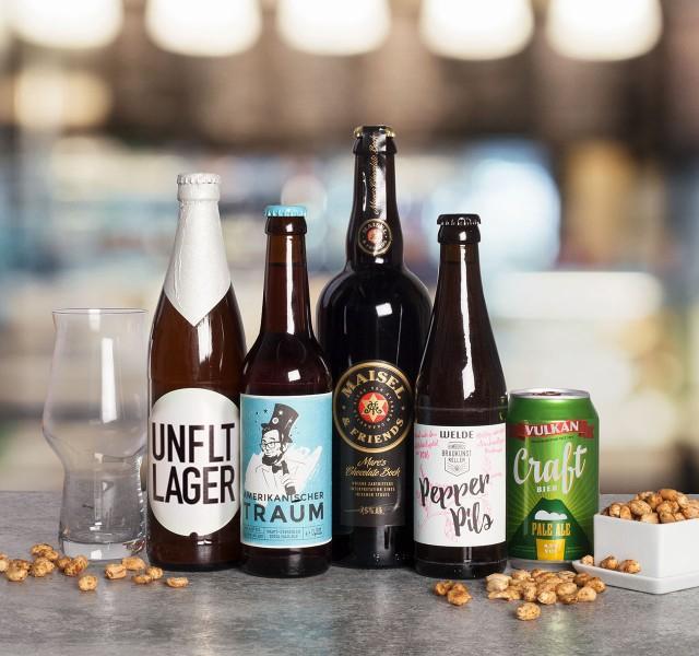 [Foodist] Craft Beer ProBier-Paket inkl. Glas 9,90€ VSK-frei - 5 Flaschen, ges. 2,25l