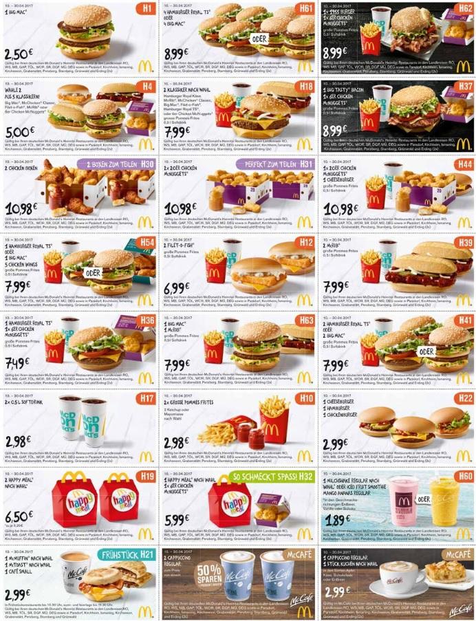 [Oberbayern / AT] Neue McDonalds Heinritzi Gutscheine gültig bis 30.04.2017