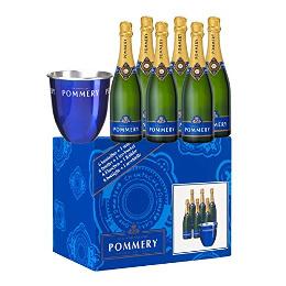 6 x 0,75l Pommery Brut Royal Champagner + Kühler für 99,99€ @Payback
