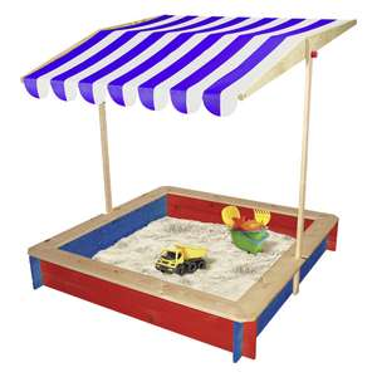 Beluga™ - Holz-Sandkasten (mit Dach,118x118x120cm) ab €34,95 [@Real.de]
