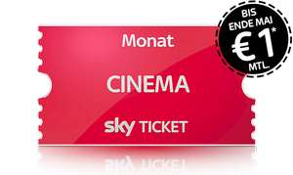 Jetzt auch Sky Ticket Cinema bis Ende Mai für 1€ monatlich.