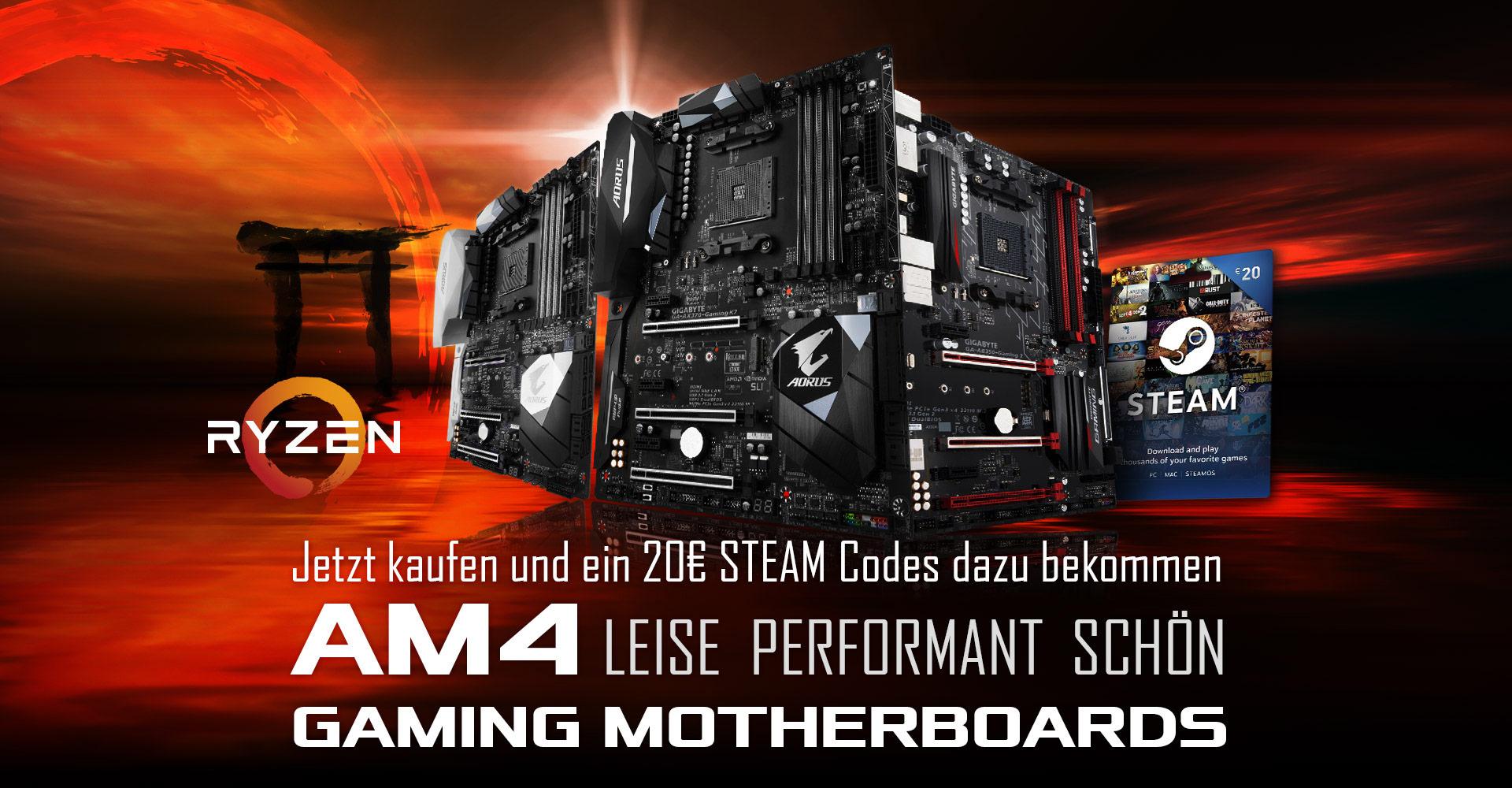 20-60€ Steam Gutscheincode bei Kauf eines aktuellen Gigabyte Aorus Mainboards