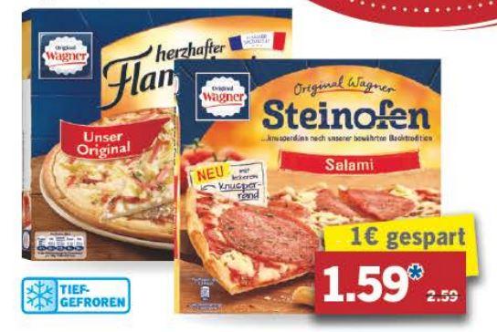 [Lidl ab 18.4.] Wagner Pizza oder Flammkuchen für 1,59€