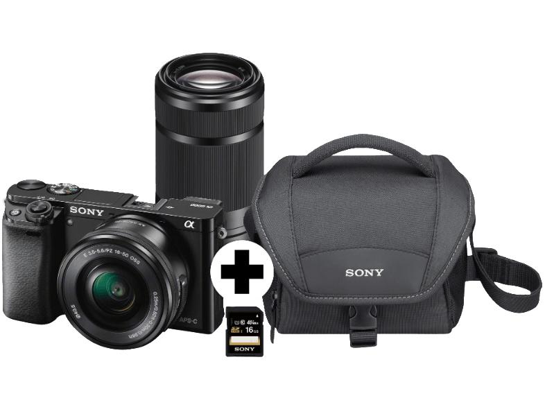 [MediaMarkt Online] Sony A6000 Systemkamera Kit (16-50mm, 55-210mm Objektiv, Tasche und SD Karte) für 754€ [+2% shoop]