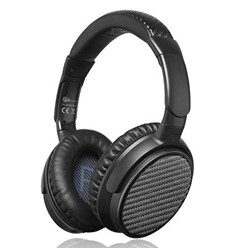Amazon iDeaUSA Active Noise Cancelling Kopfhörer mit Bluetooth 4.1, Apt-X und eingebautes Mikrofon, Wireless HiFi Stereo Over-Ear Headset – Schwarz 59,99€