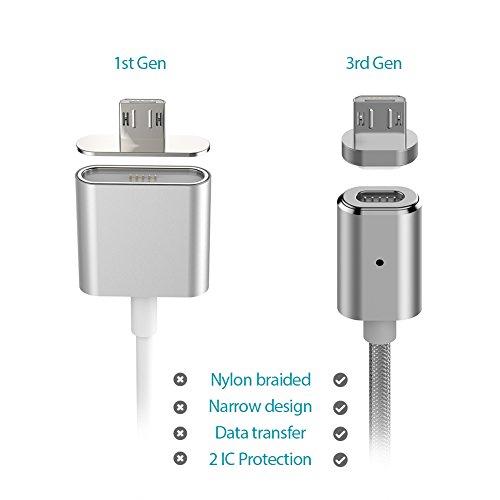 Magnetisches Micro USB Ladekabel - auch als Datenkabel nutzbar mit 1,2 Meter Länge