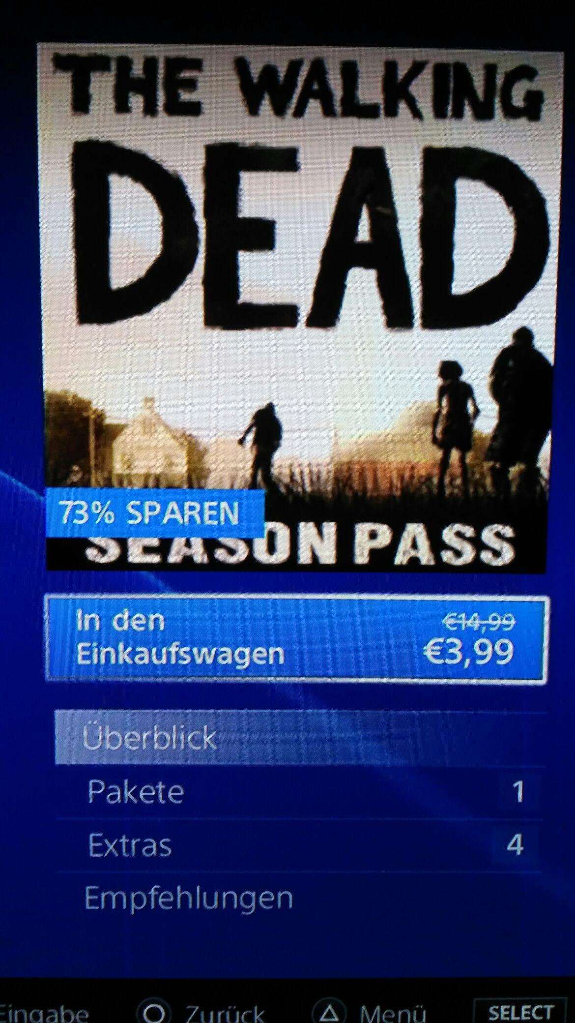 (PSN) PS3 Telltale Games The Walking Dead Staffel 1