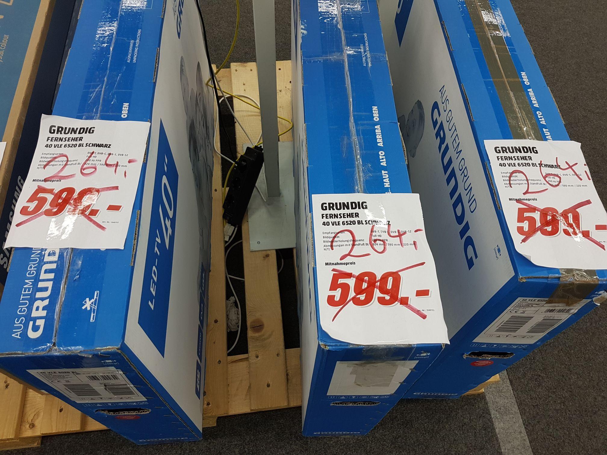 "Lokal/Mediamarkt HH-Altona: Grundig 40"" TV für 264 Euro (40 VLE 6520 BL)"