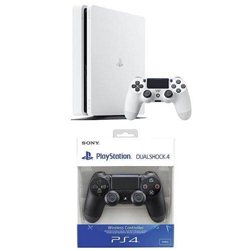 PS4 Slim 500GB in weiß + 2. Dualshock 4 v2 für 252,71€ & PS4 Pro + Horizon: Zero Dawn für 400,84€ [Amazon.es]