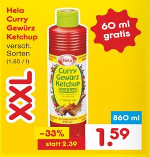 [Netto MD] Hela Gewürz-Ketchup versch. Sorten für 1,59€ ab 20.04.