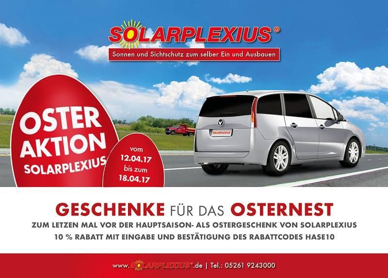 10% Solarplexius Osteraktion - letztmalige Rabattaktion vor der Hauptsaison