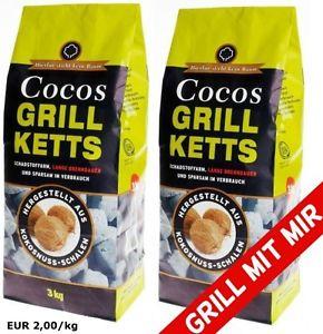 6kg Cocos Grill Ketts ökologische Grillkohle-Briketts für 11,99€ [eBay]